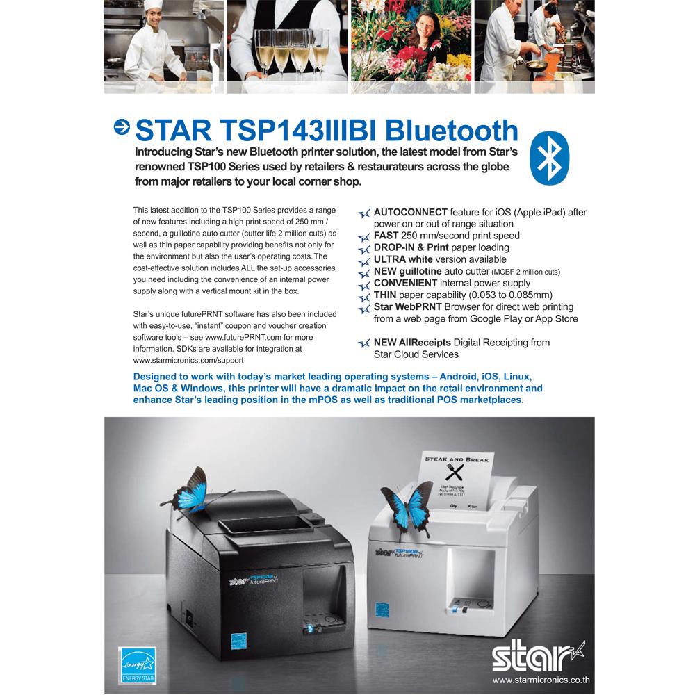 TSP100IIIBi Product Sheet Starmicronics